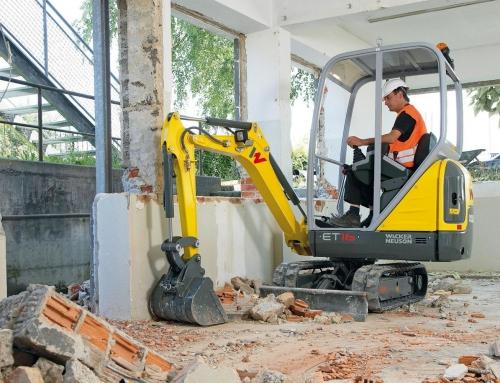 Mini excavadoras para construcción y obra pública